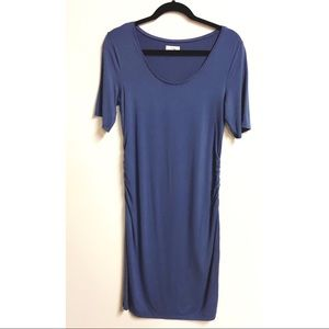 A:glow | runched side maternity dress